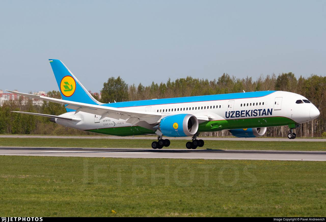 UK78703 - Boeing 787-8 Dreamliner - Uzbekistan Airways