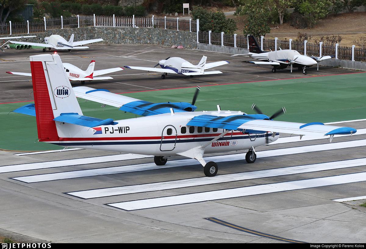 PJ-WIP - De Havilland Canada DHC-6-300 Twin Otter - Winair - Windward Islands Airways