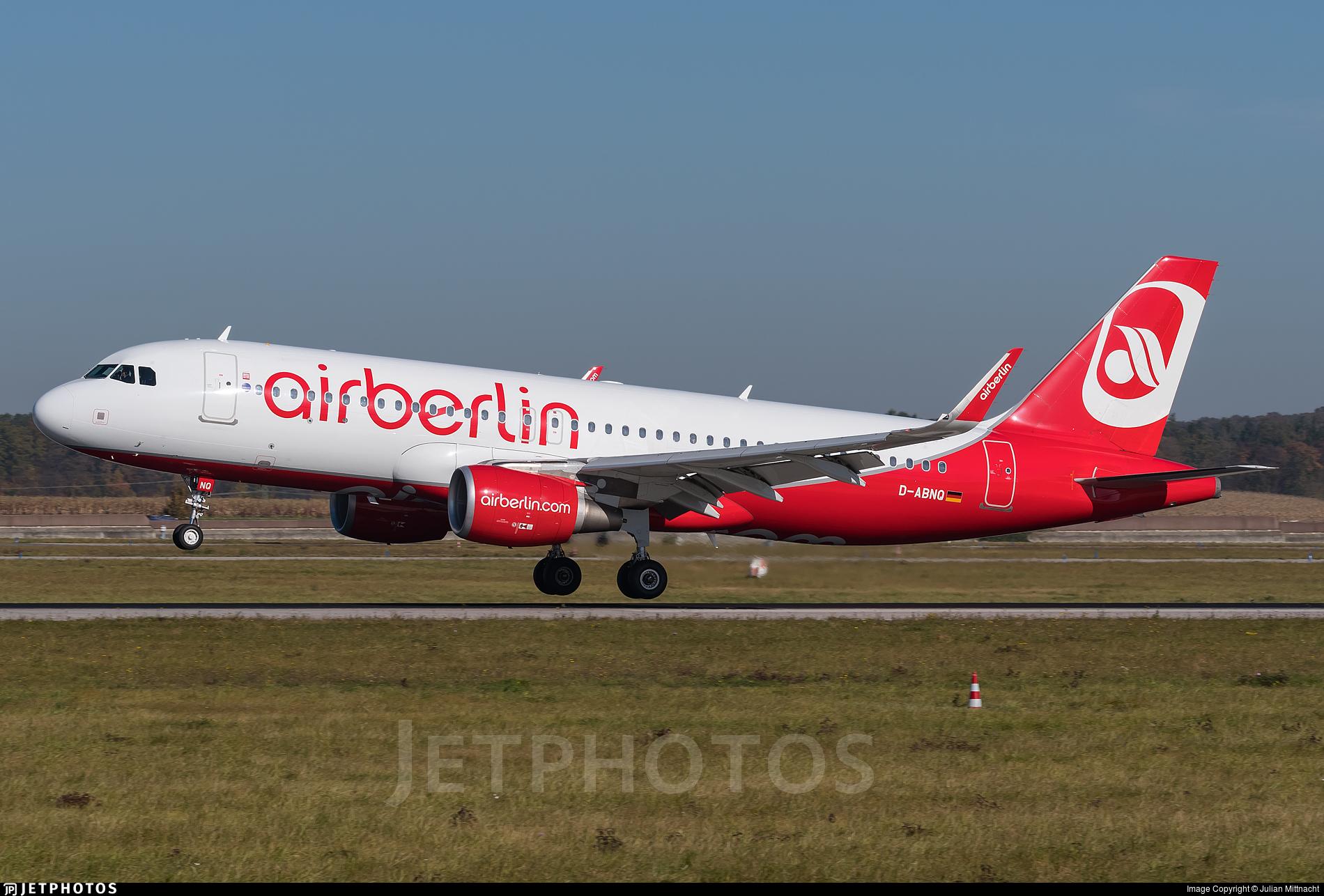 D-ABNQ - Airbus A320-214 - Air Berlin