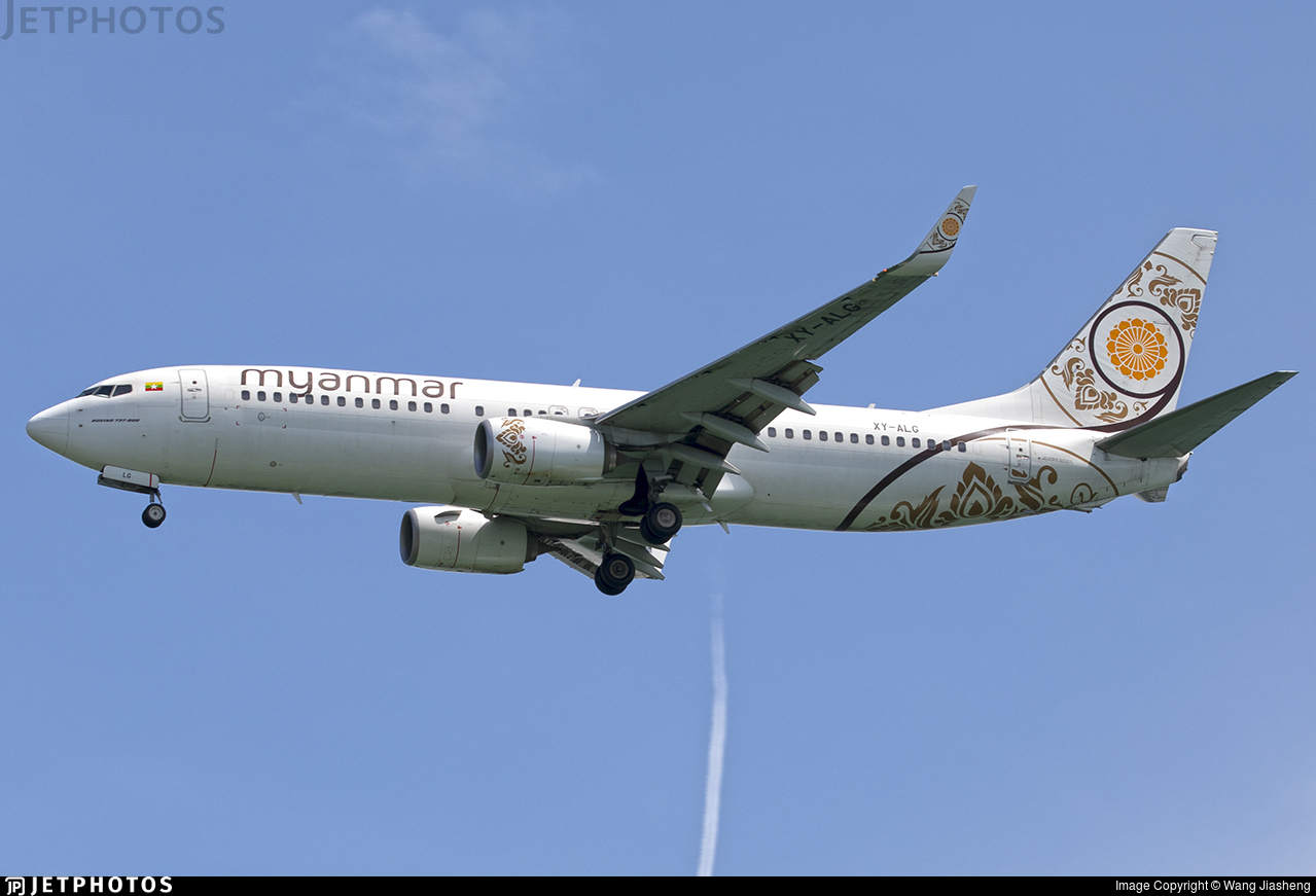 XY-ALG - Boeing 737-86N - Myanmar National Airlines