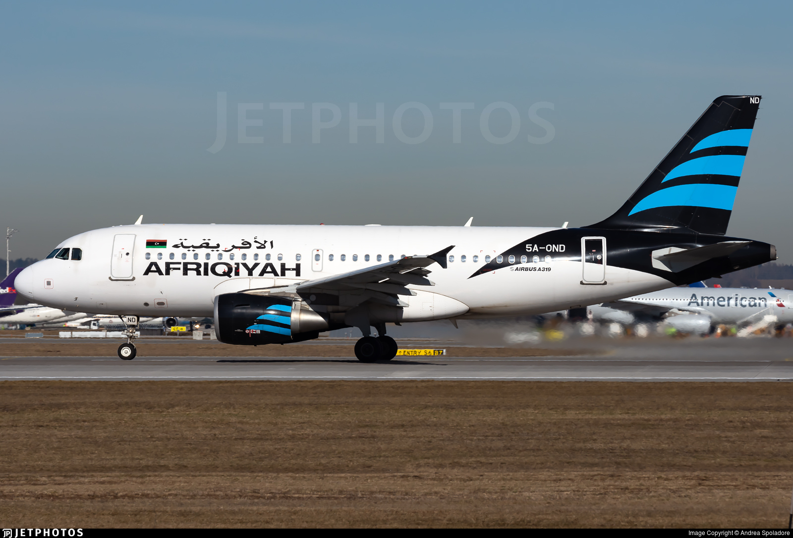 5A-OND - Airbus A319-111 - Afriqiyah Airways