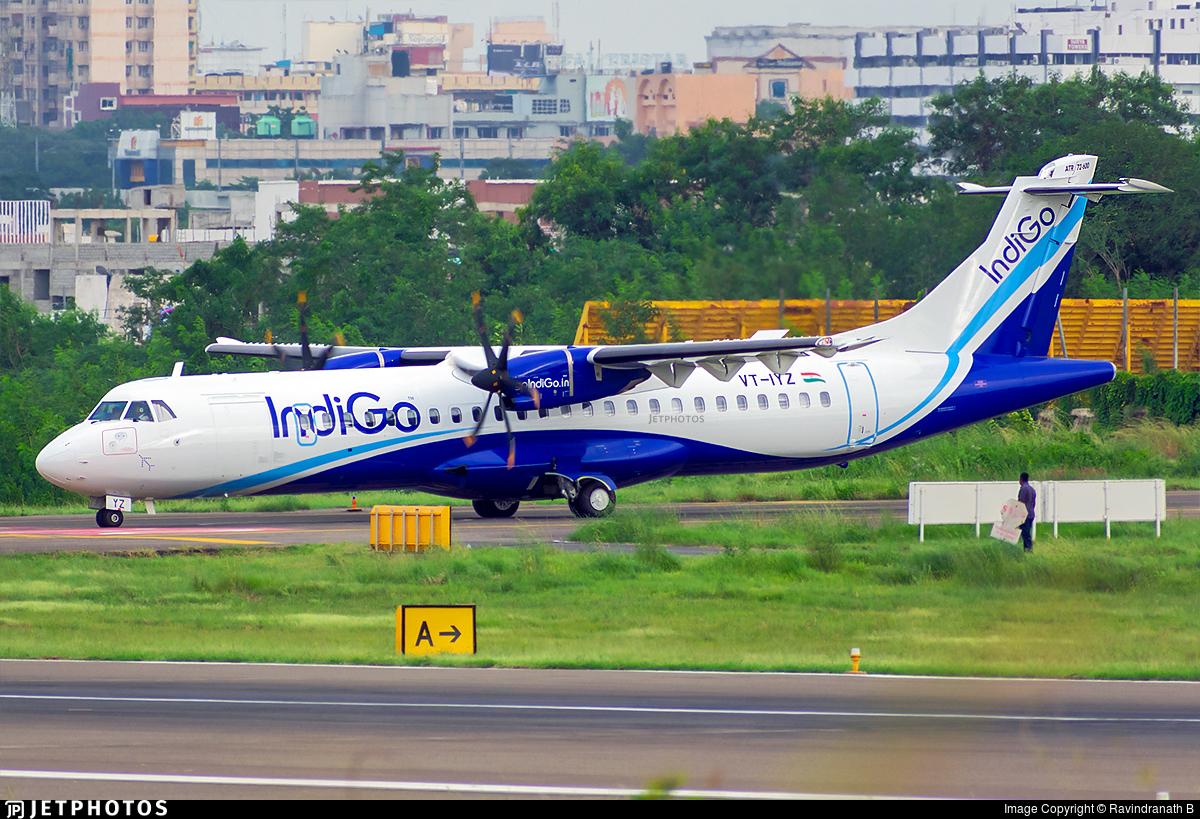 VT-IYZ - ATR 72-212A(600) - IndiGo Airlines
