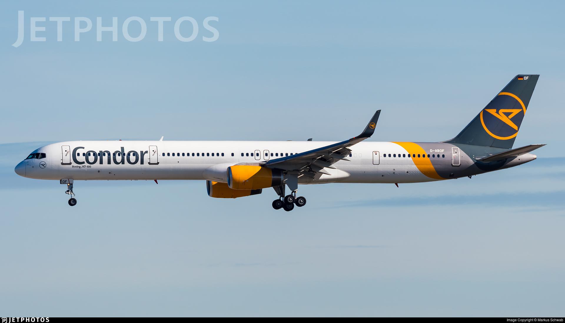 D-ABOF - Boeing 757-330 - Condor