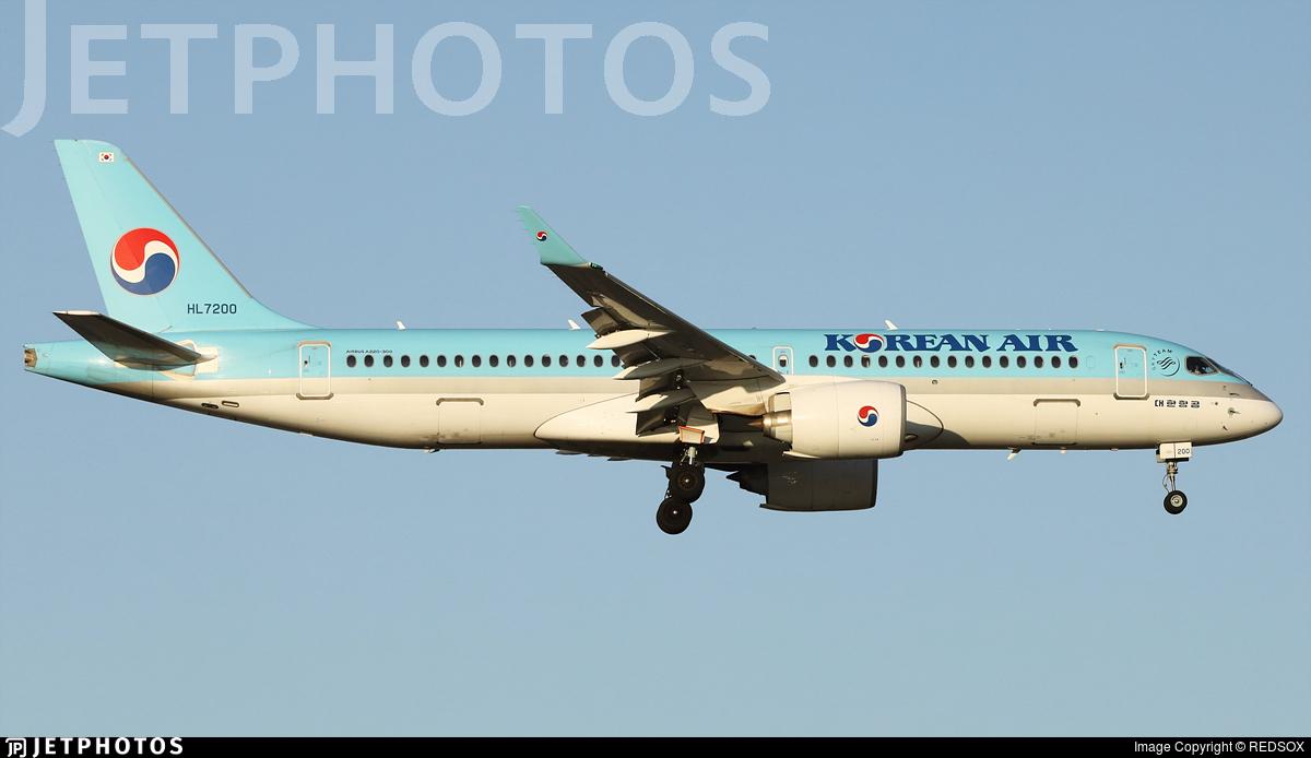 HL7200 - Bombardier CSeries CS300 - Korean Air