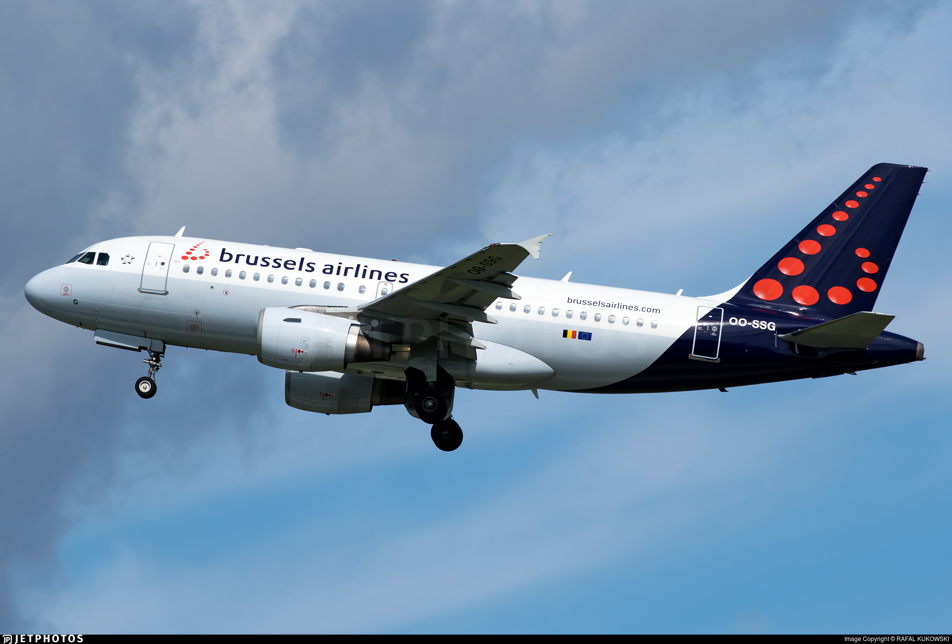 OO-SSG | Airbus A319-112 | Brussels Airlines | RAFAL