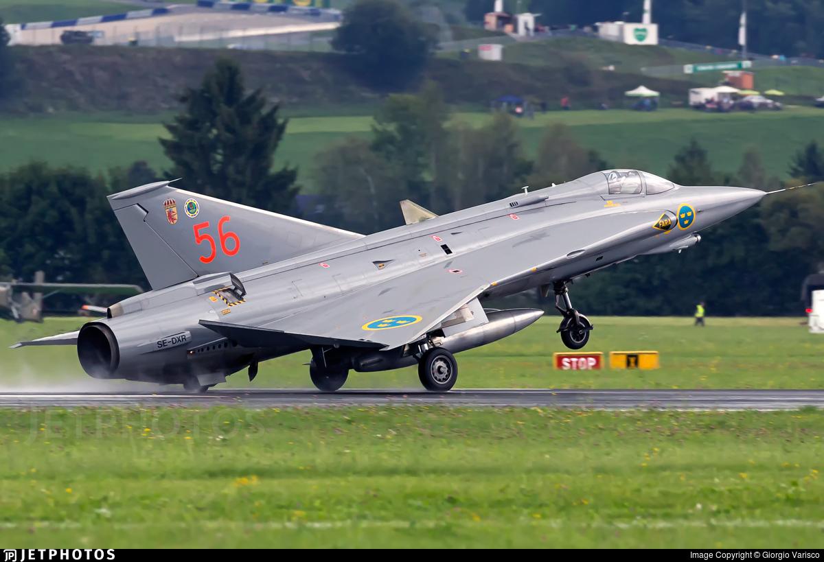 SE-DXR - Saab J-35J Draken - Swedish Airforce Historic Flight