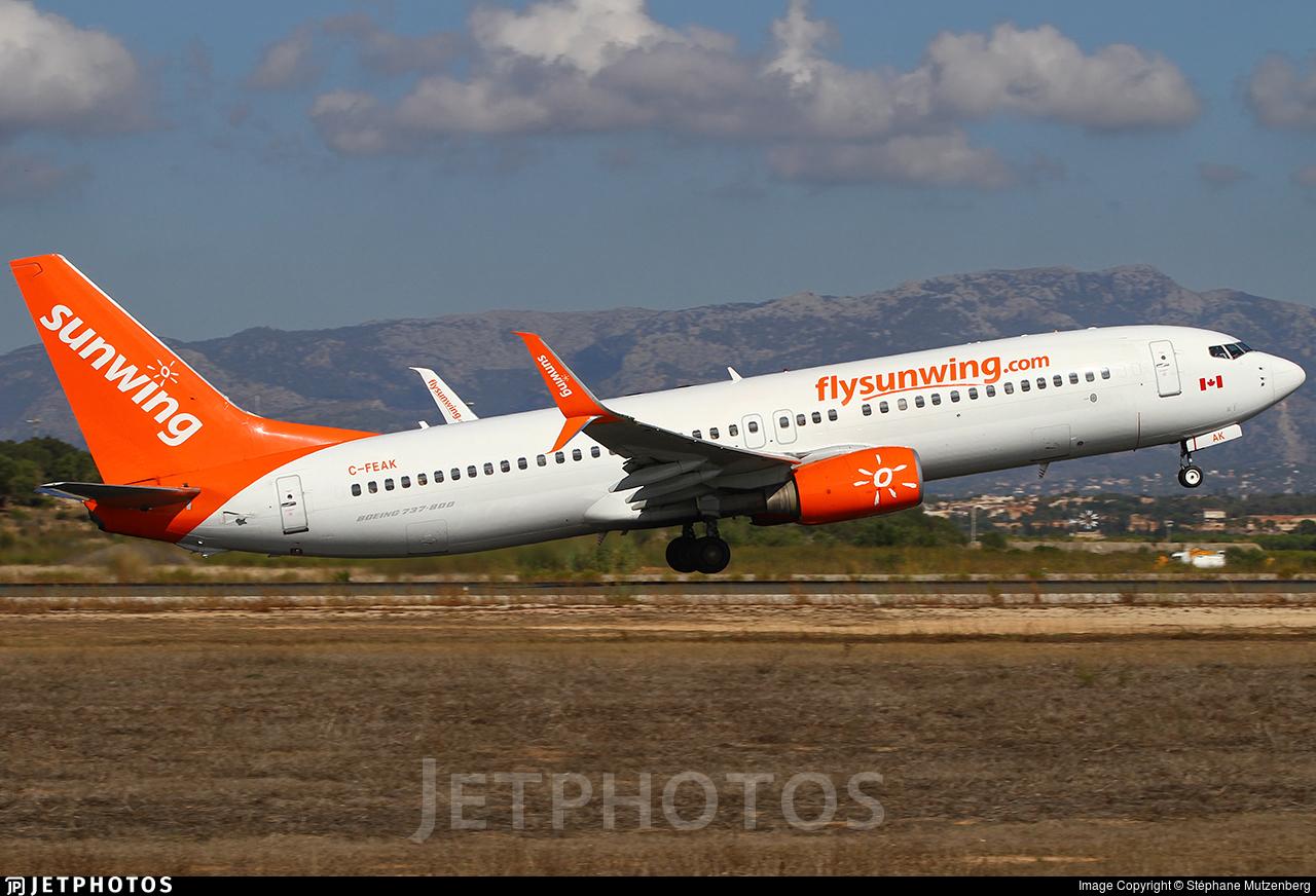 C-FEAK - Boeing 737-86Q - Sunwing Airlines