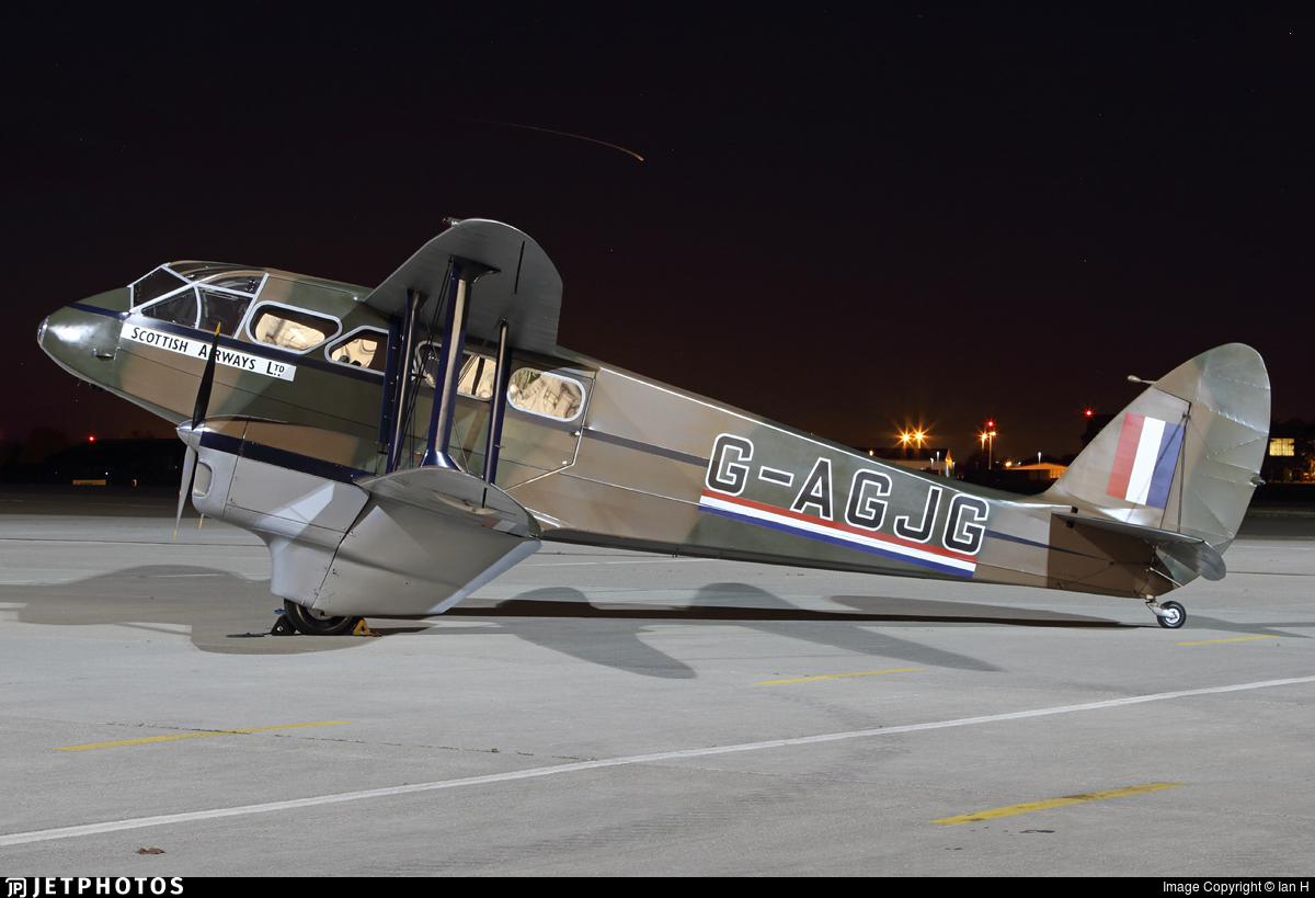 G-AGJG - De Havilland DH-89A Dragon Rapide - Private