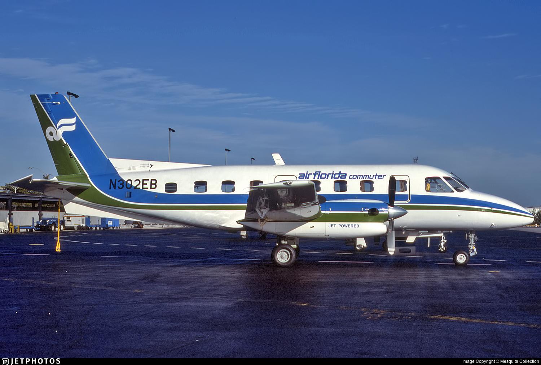 N302EB | Embraer EMB-110P1 Bandeirante | Air Florida Commuter | Mesquita  Collection