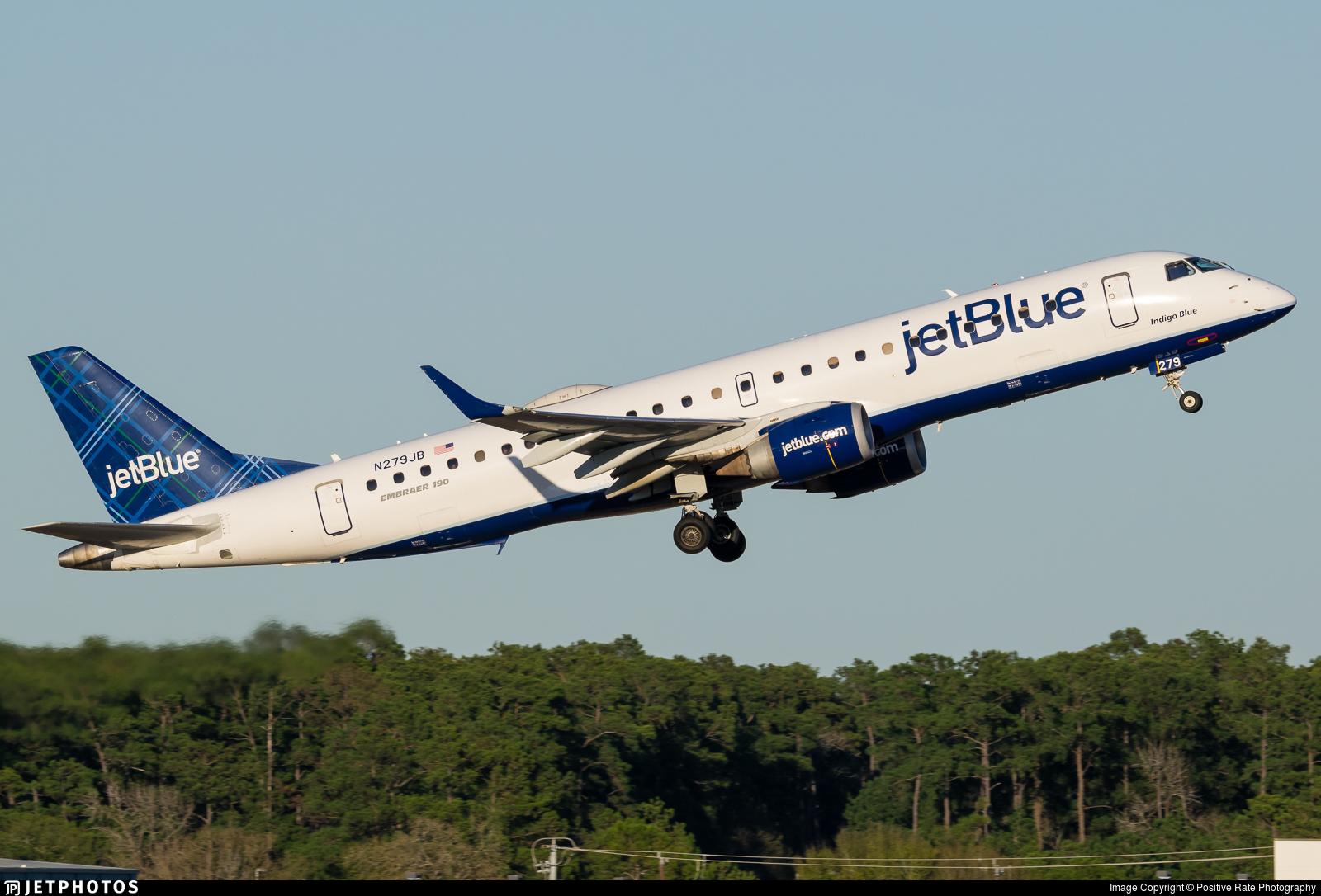 N279JB - Embraer 190-100IGW - jetBlue Airways