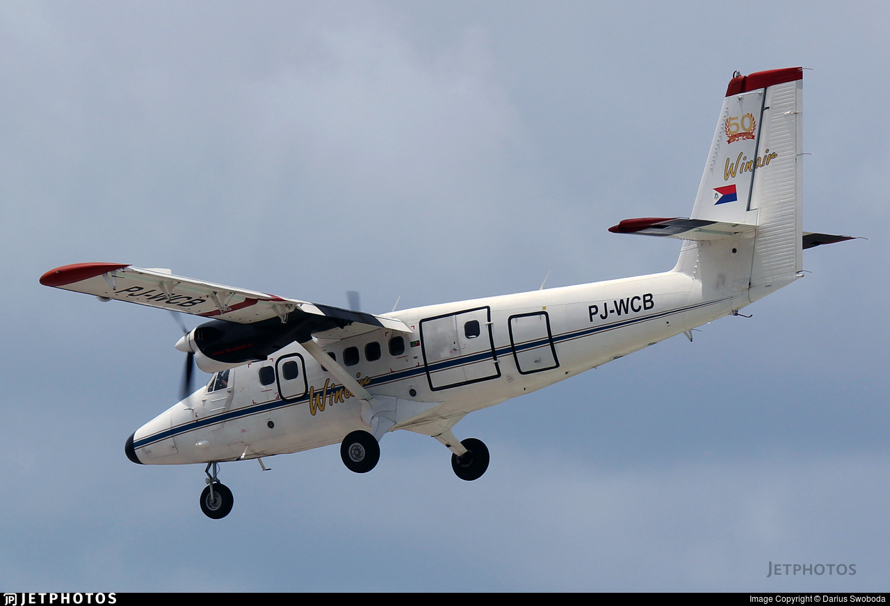PJ-WCB - De Havilland Canada DHC-6-300 Twin Otter - Winair - Windward Islands Airways