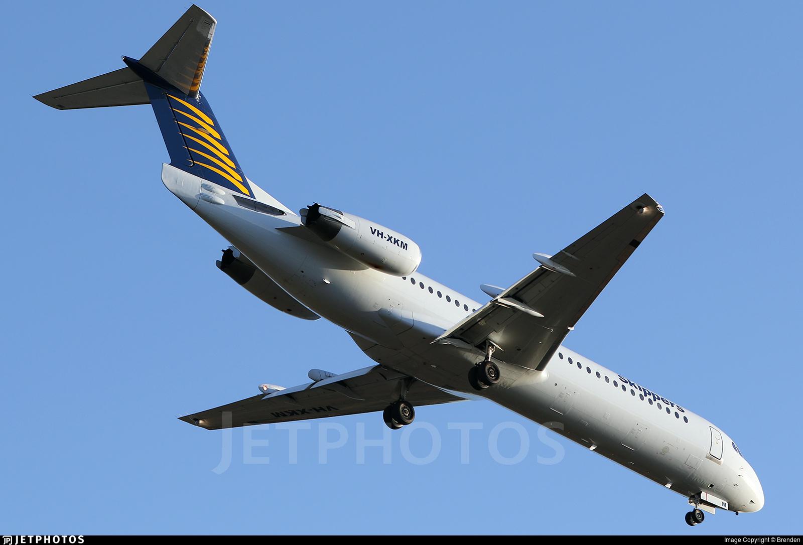 VH-XKM - Fokker 100 - Skippers Aviation