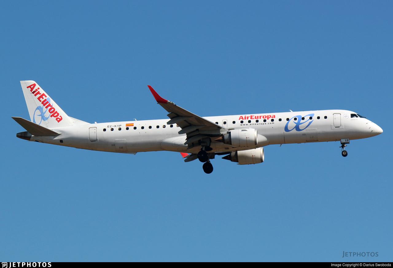 EC-KYP - Embraer 190-200LR - Air Europa
