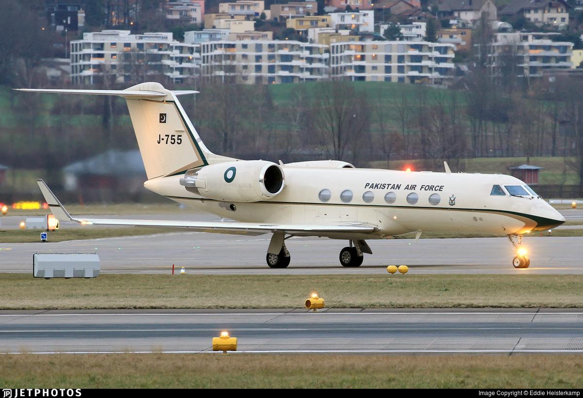 J-755 - Gulfstream G-IV(SP) - Pakistan - Air Force