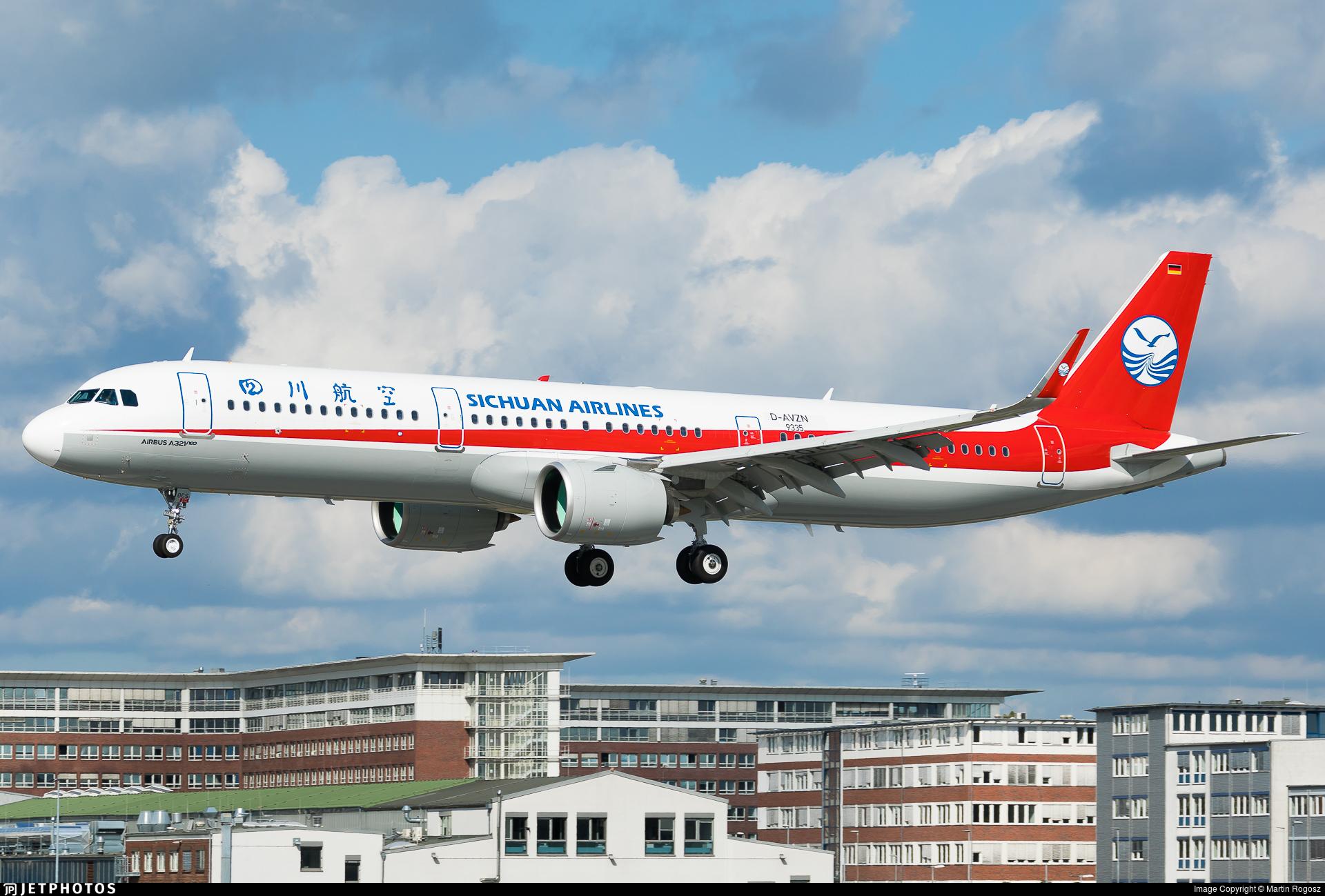D-AVZN - Airbus A321-271N - Sichuan Airlines