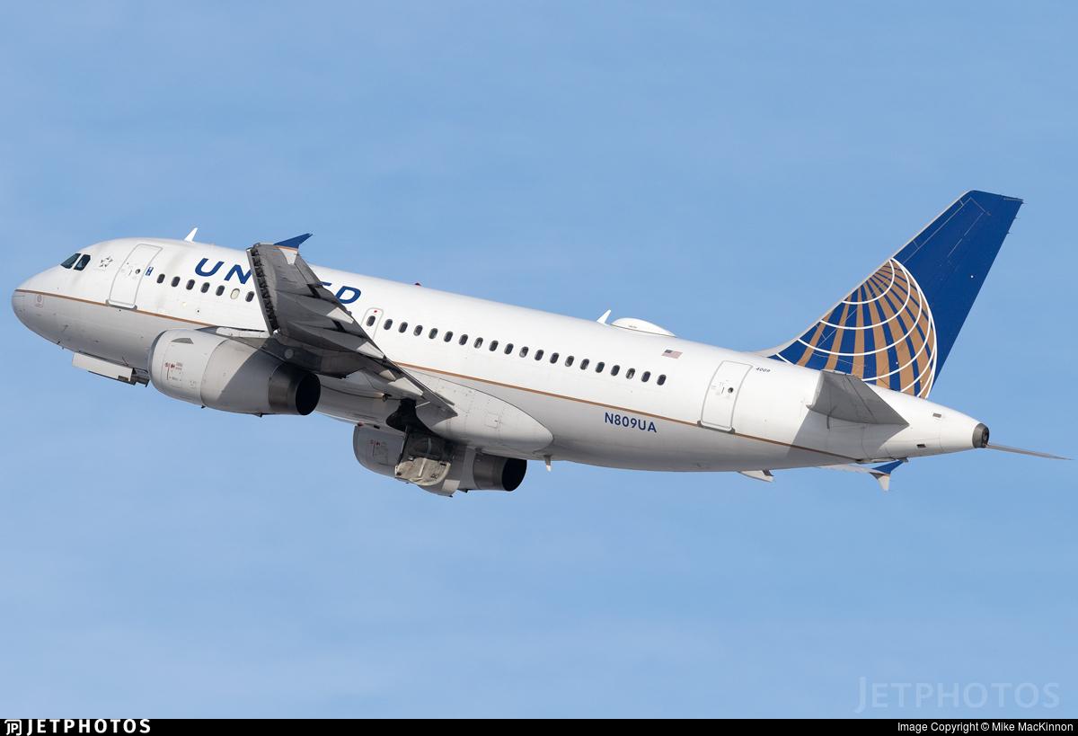 N809UA - Airbus A319-131 - United Airlines