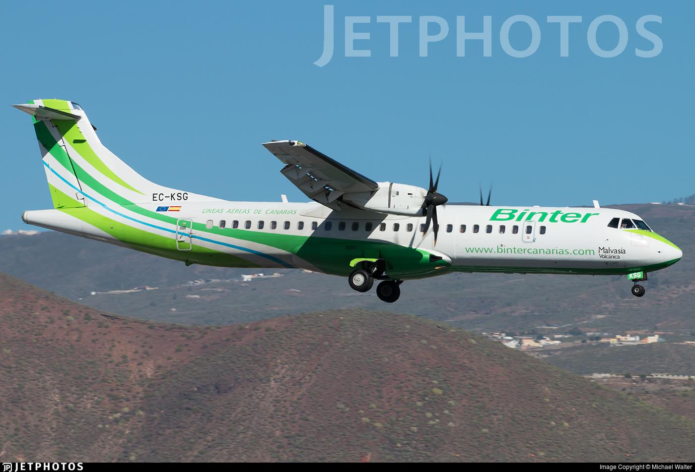 EC-KSG - ATR 72-212A(500) - Binter Canarias (Naysa)