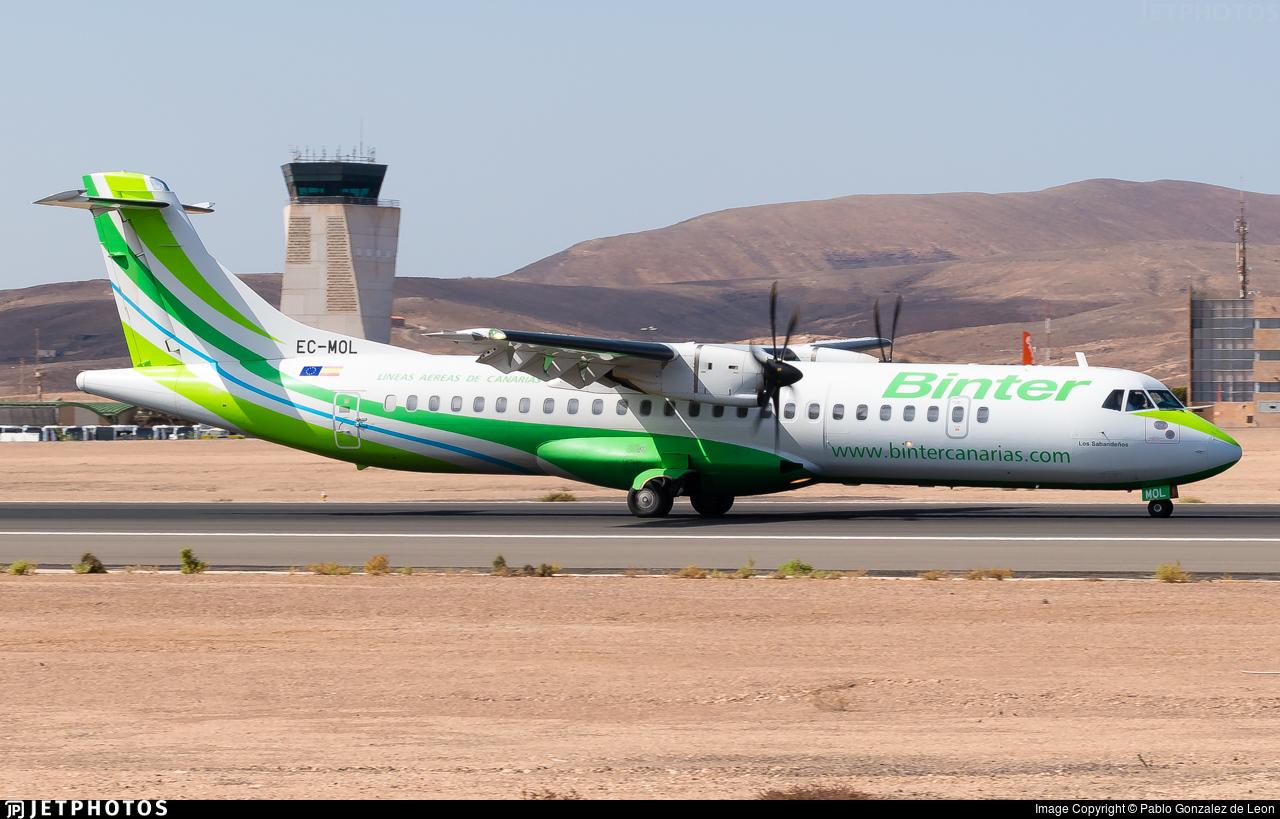 EC-MOL - ATR 72-212A(600) - Binter Canarias (Canarias Airlines)