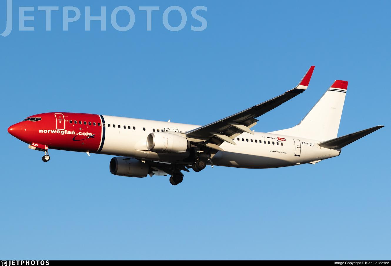 EI-FJD - Boeing 737-8JP - Norwegian