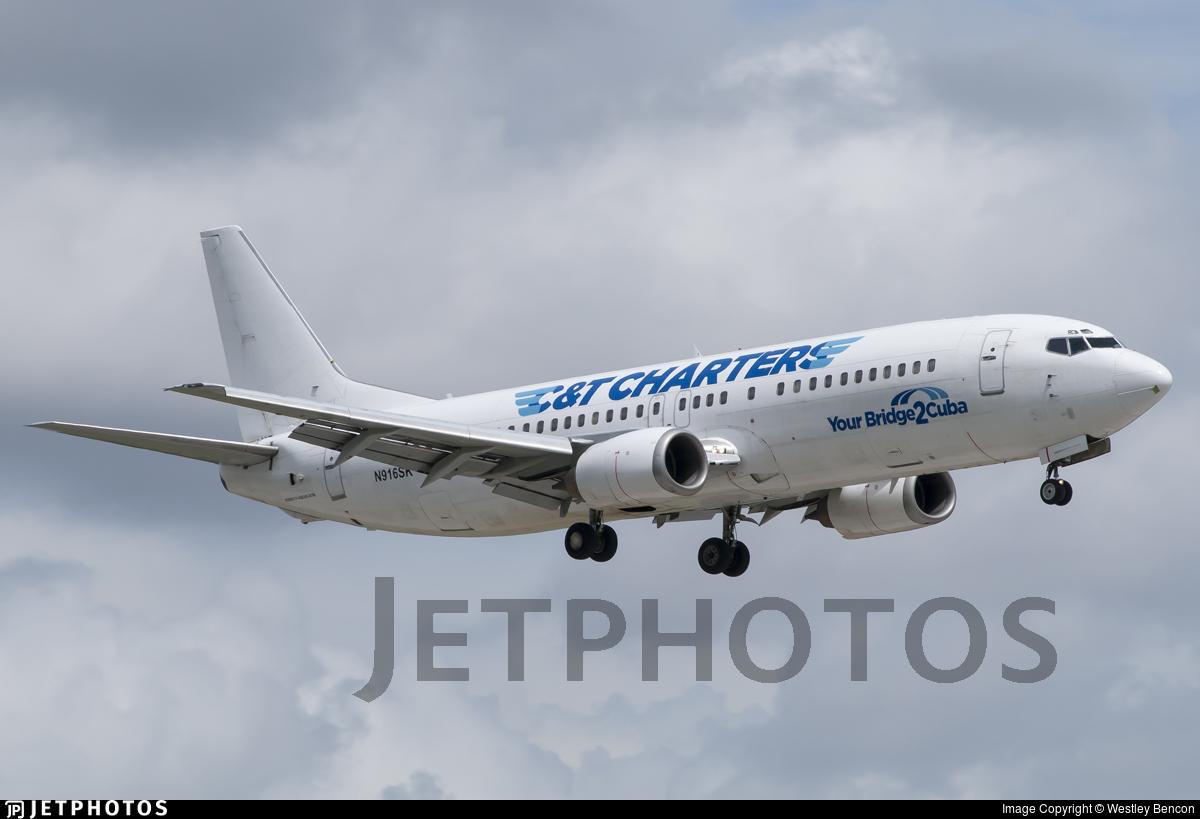 N916SK - Boeing 737-4Q8 - C&T Charters (SkyKing Airlines)