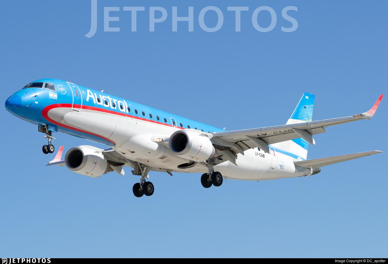 LV-CMB - Embraer 190-100IGW - Aerolíneas Argentinas