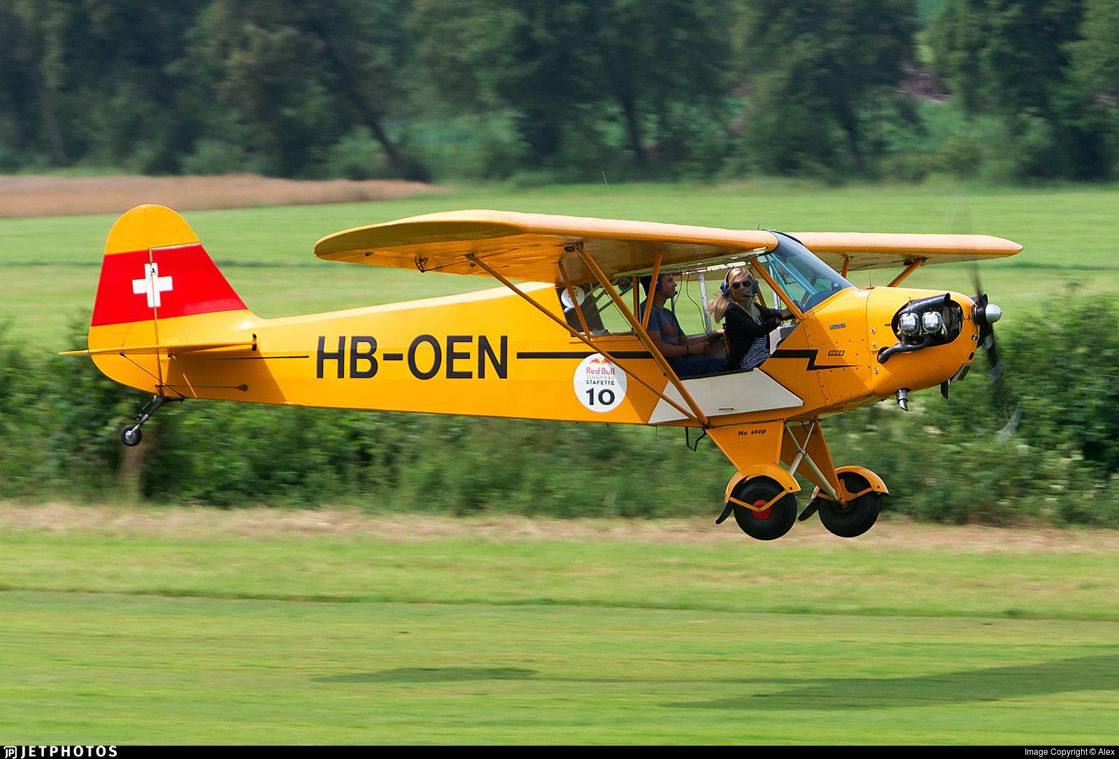 HB-OEN - Piper J-3C-90 Cub - Flubag Flugbetriebs AG