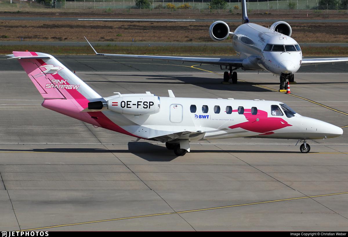 OE-FSP - Cessna 525A CitationJet CJ2 - Pink Sparrow