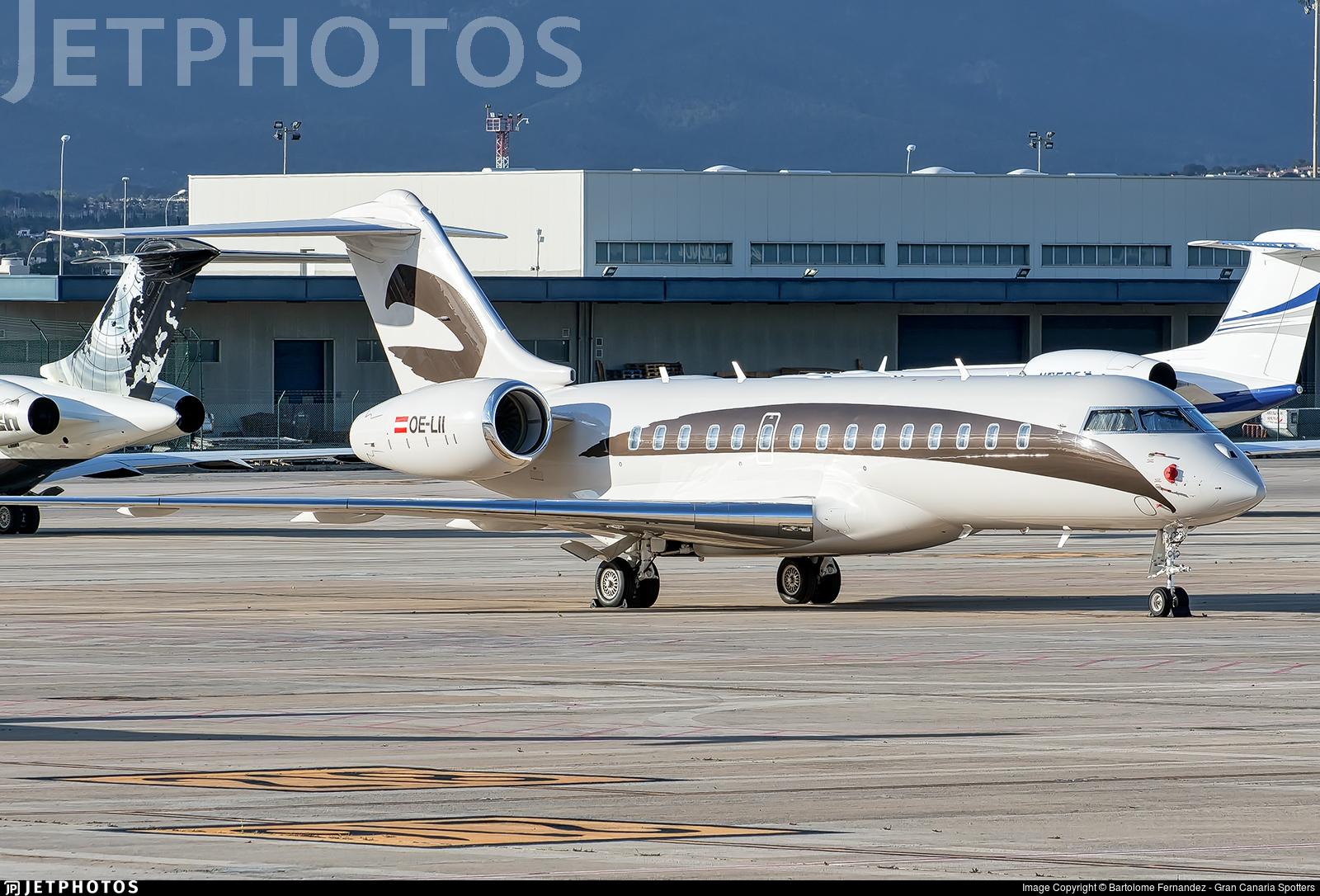 OE-LII - Bombardier BD-700-1A10 Global 6000 - Amira Air
