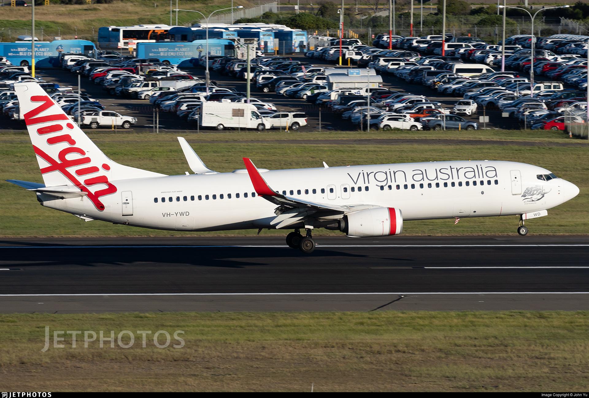 VH-YWD - Boeing 737-8FE - Virgin Australia Airlines