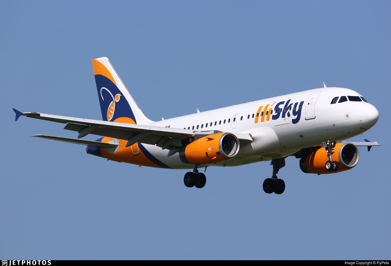 ER-SKY - Airbus A319-131 - HiSky
