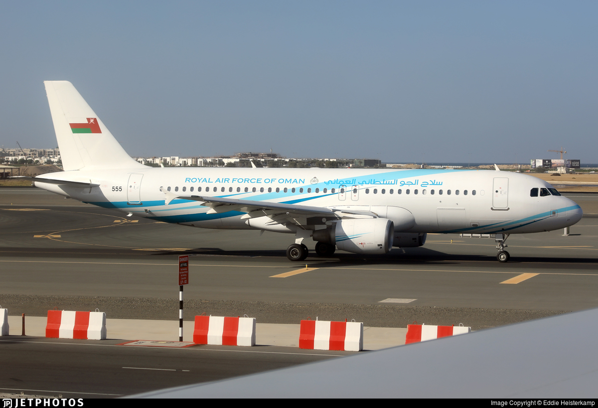 555 - Airbus A320-214(CJ) Prestige - Oman - Royal Air Force c9c8b5dff47d