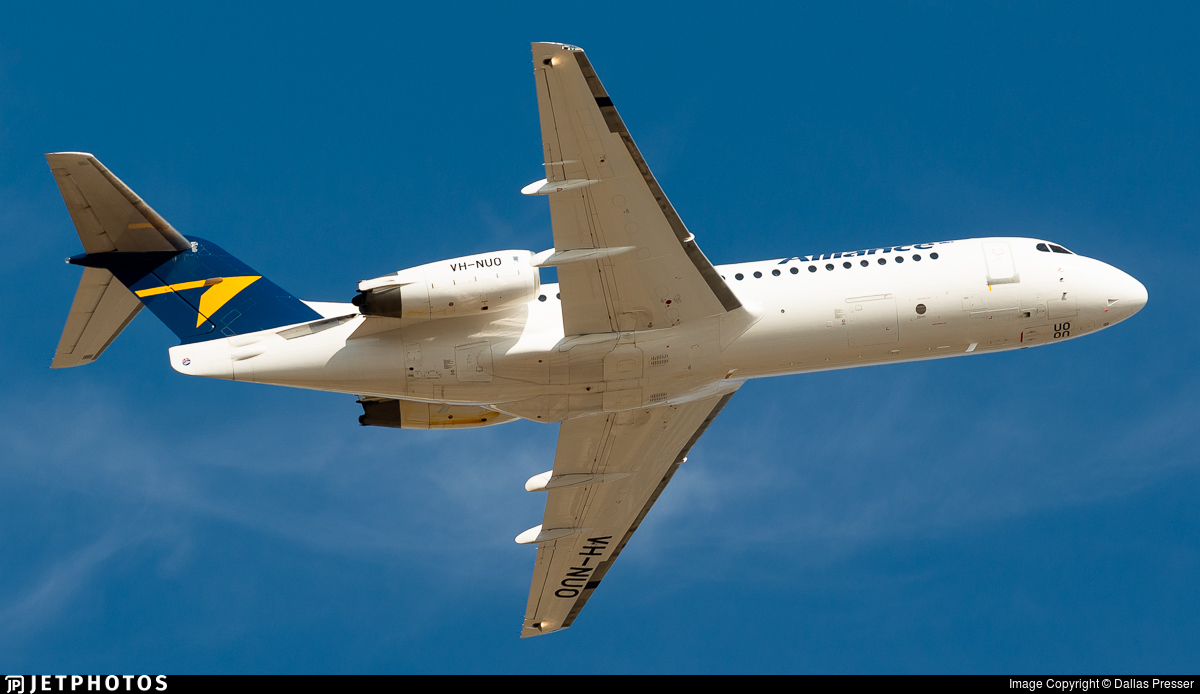 VH-NUO - Fokker 70 - Alliance Airlines