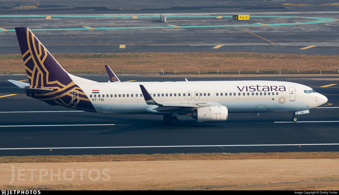 VT-TGI - Boeing 737-86N - Vistara