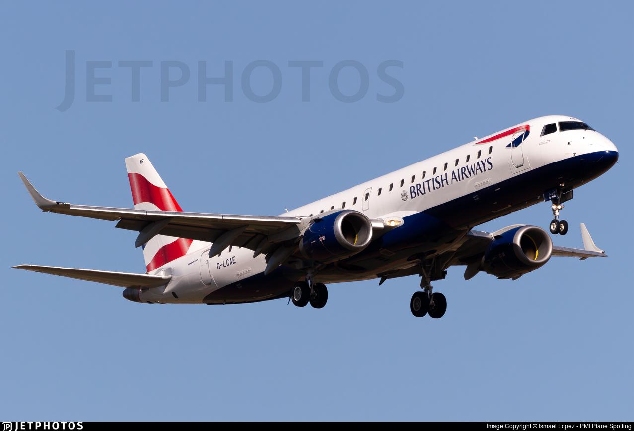 G-LCAE - Embraer 190-100SR - BA CityFlyer