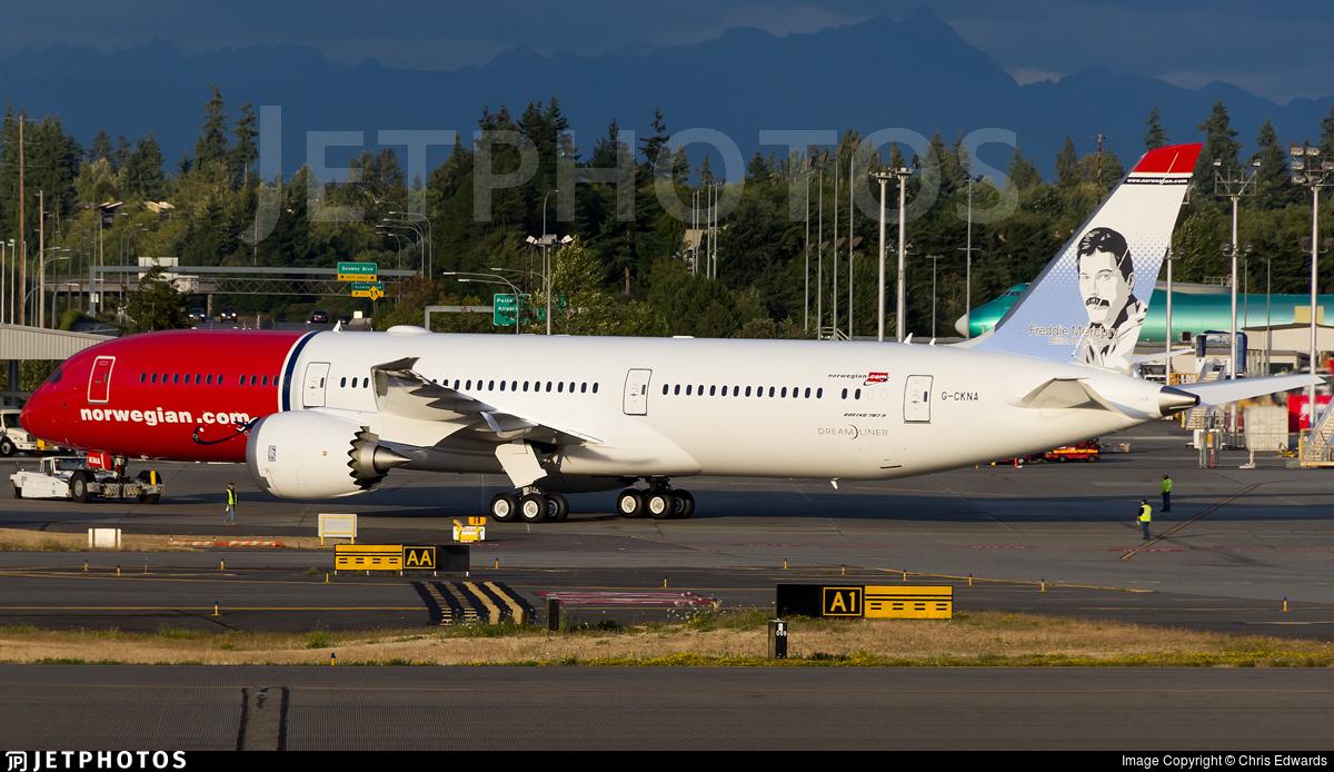 G Ckna Boeing 787 9 Dreamliner Norwegian Chris