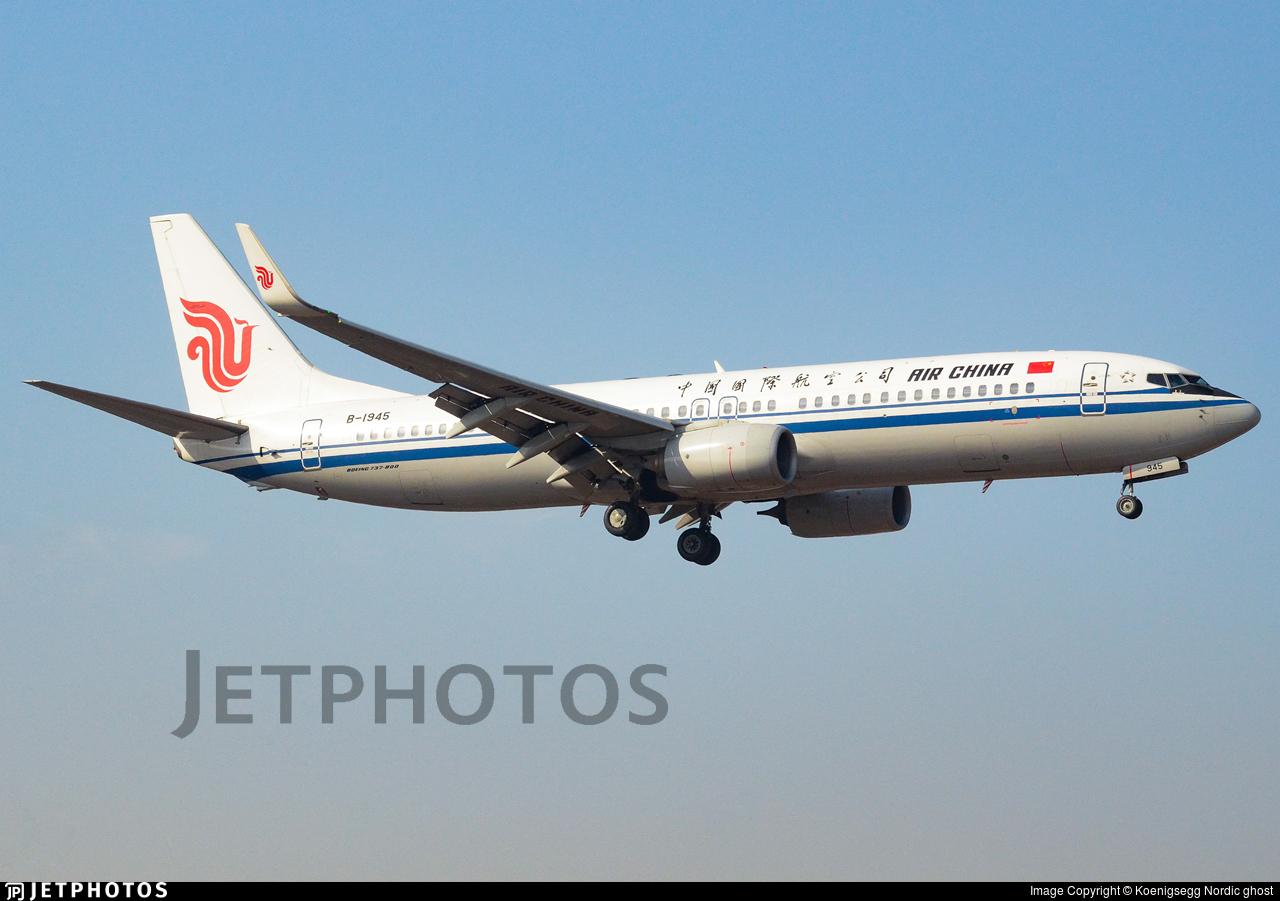 B-1945 - Boeing 737-89L - Air China