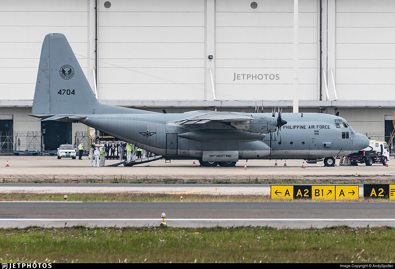 4704 - Lockheed C-130H Hercules - Philippines - Air Force