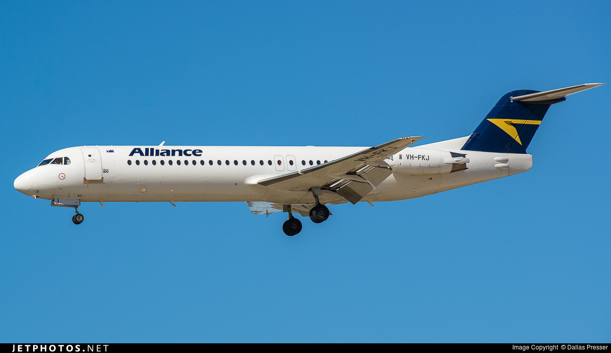 VH-FKJ - Fokker 100 - Alliance Airlines