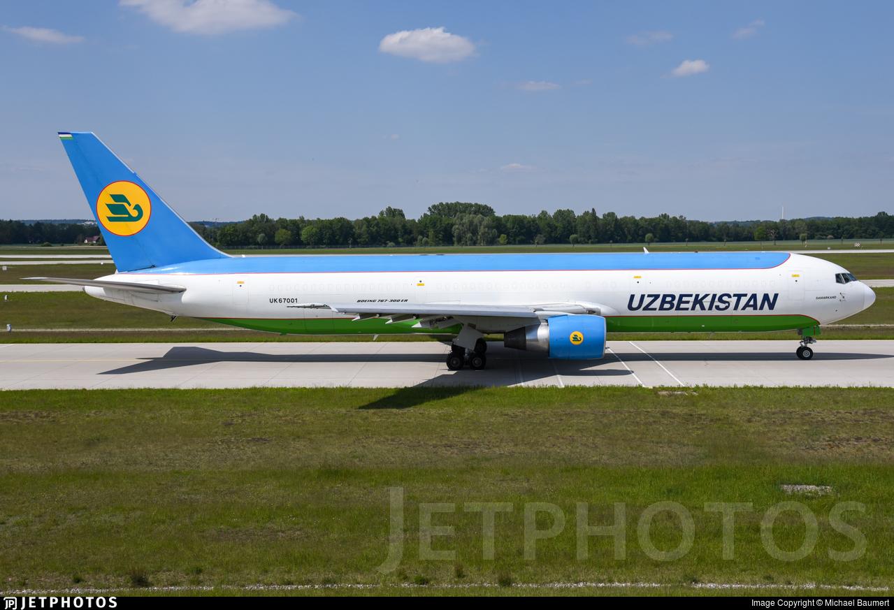 UK67001 - Boeing 767-33P(ER)(BCF) - Uzbekistan Airways Cargo