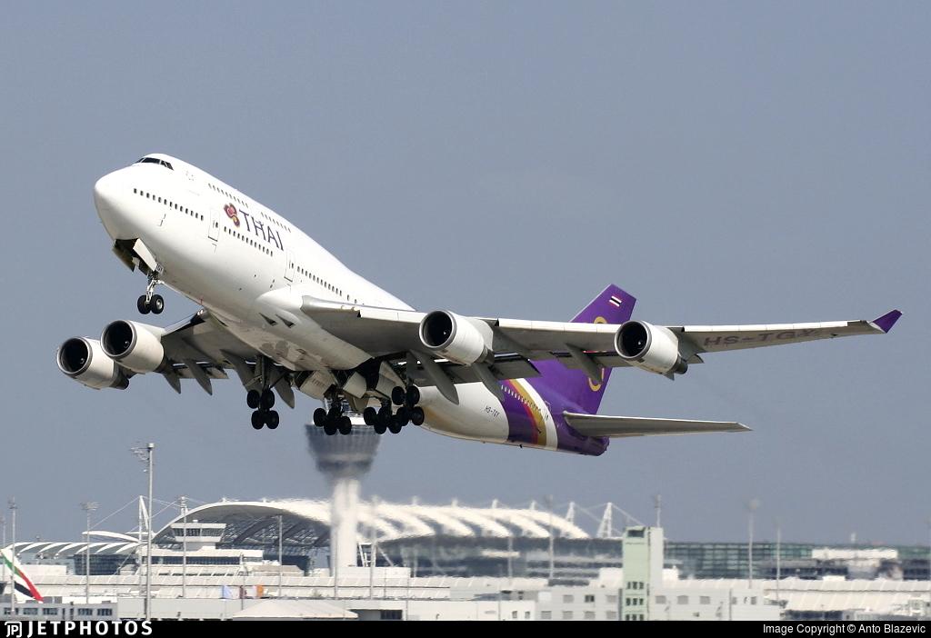 HS-TGY - Boeing 747-4D7 - Thai Airways International