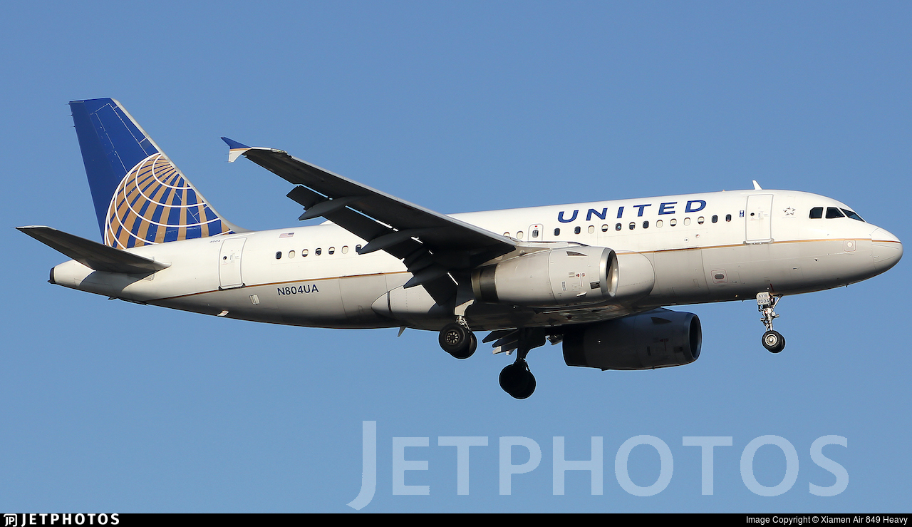 N804UA - Airbus A319-131 - United Airlines