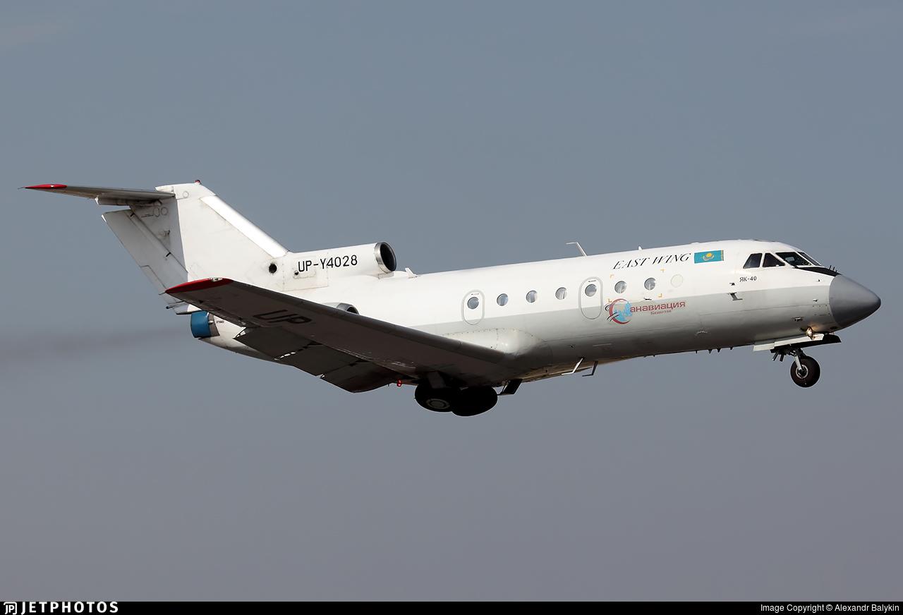 UP-Y4028 - Yakovlev Yak-40 - East Wing