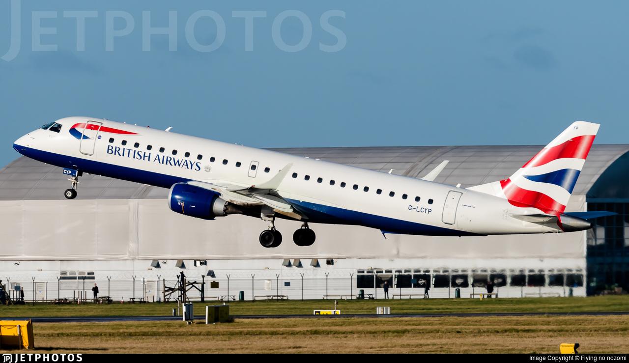 G-LCYP - Embraer 190-100SR - BA CityFlyer