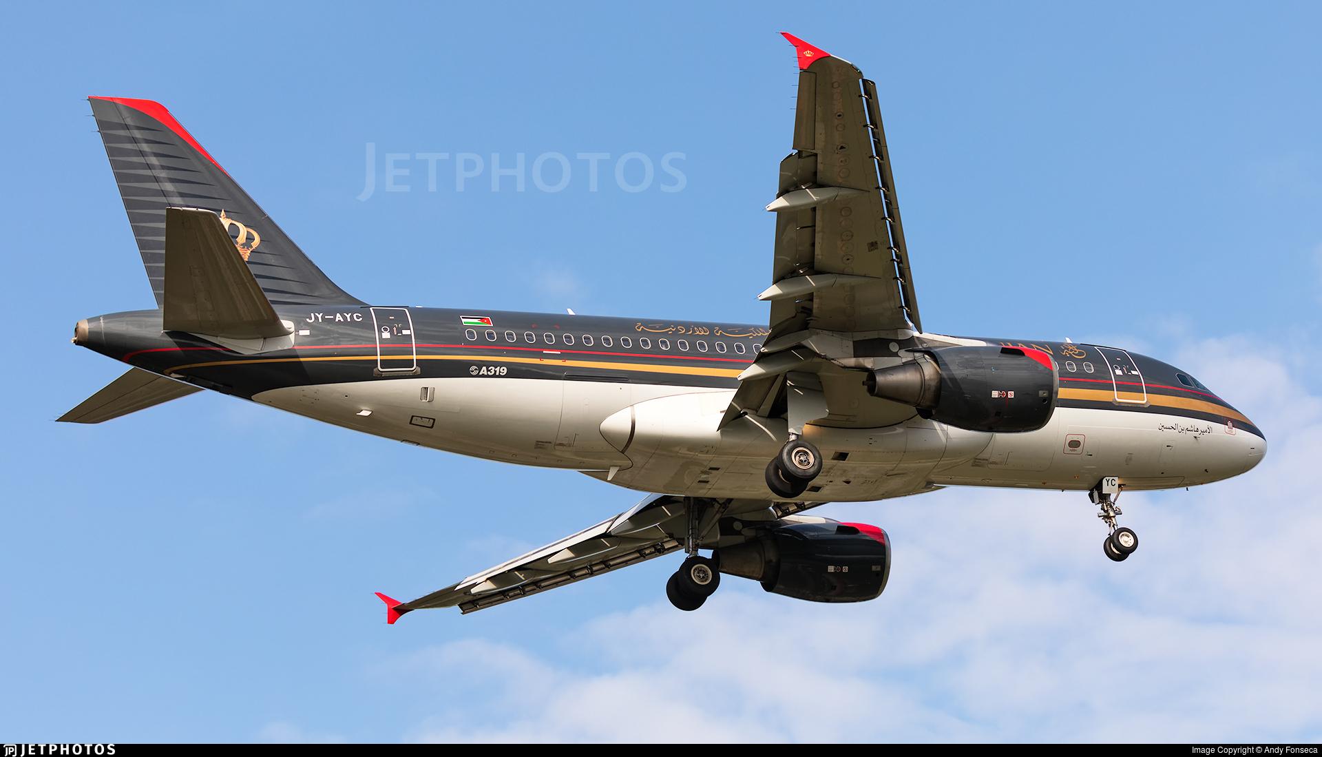 JY-AYC   Airbus A319-112   Royal