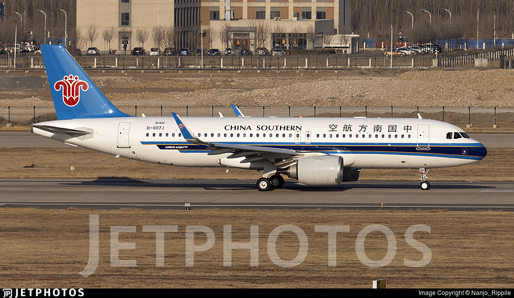 B-007J - Airbus A320-251N - China Southern Airlines