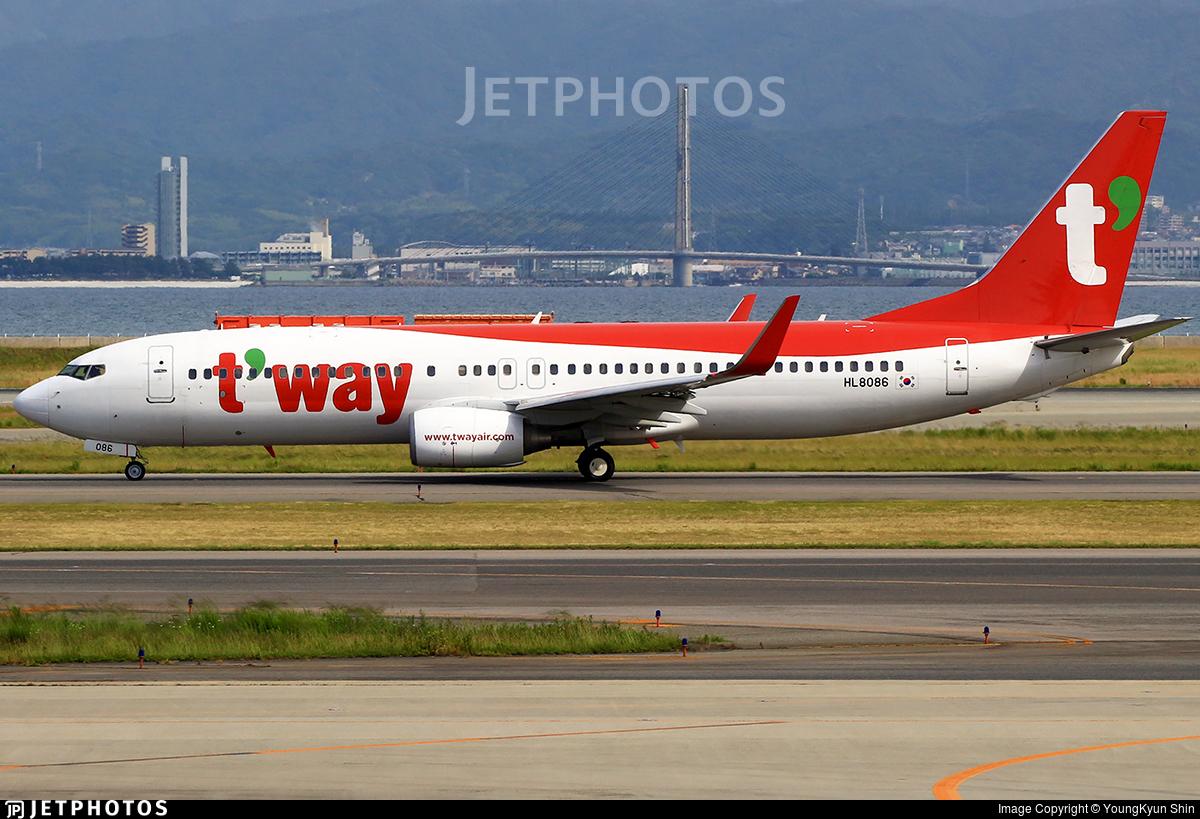 HL8086 - Boeing 737-8Q8 - T'Way Air