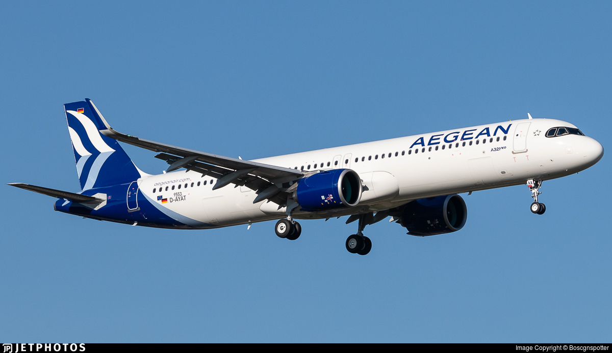 D-AYAT - Airbus A321-271NX - Aegean Airlines