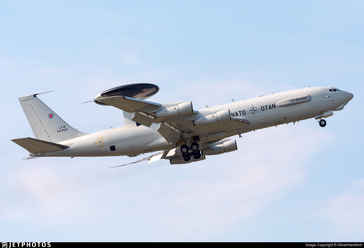 LX-N90459 - Boeing E-3A Sentry - NATO - Airborne Early Warning Force