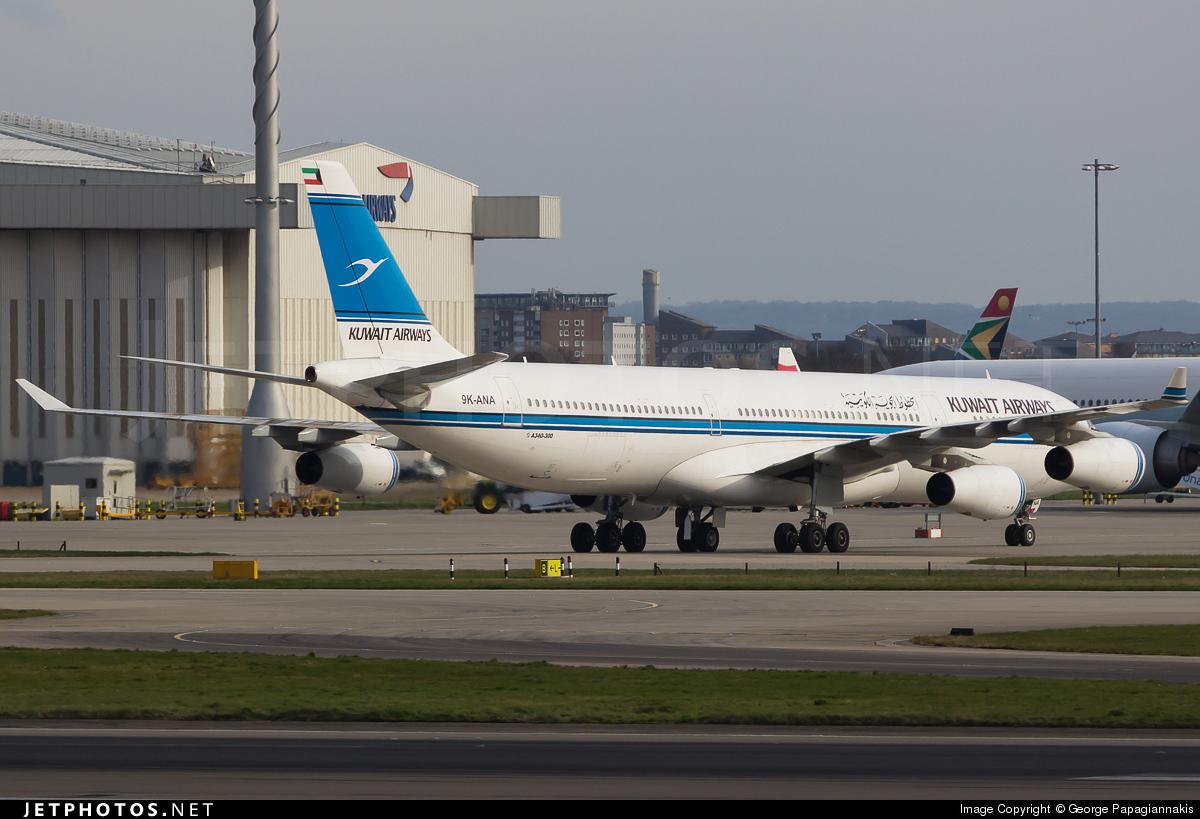 9K-ANA - Airbus A340-313 - Kuwait Airways