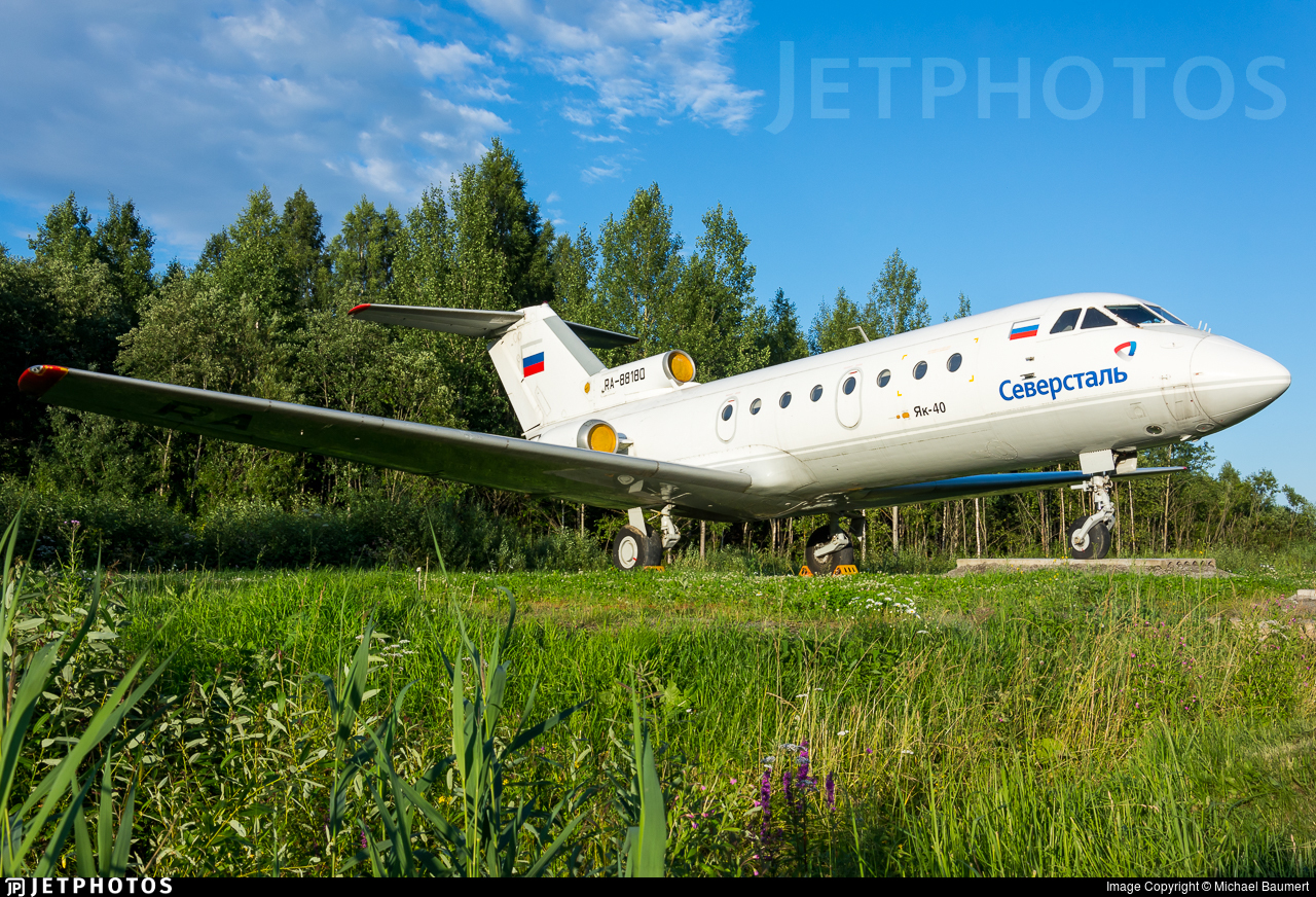 RA-88180 - Yakovlev Yak-40 - Severstal Air Company